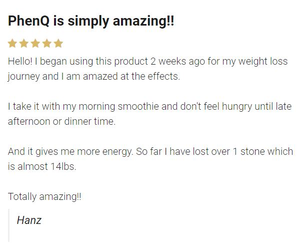 phenq customer review