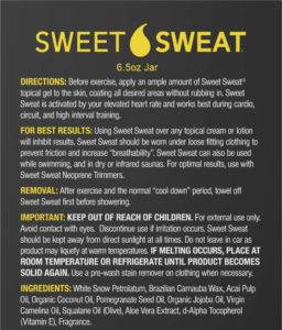 sweet sweat ingredients